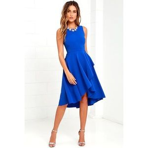 Lulu's Chance to Dance Royal Blue High-Low Dress